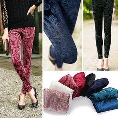 5 Color Vintage Velvet Skinny Pants Leggings by GenuinePeople, $14.99