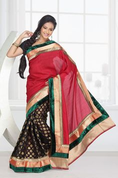 Jailakshmi Sarees is one of the leading manufacturers and exporters of chinon with half half chenderi with attached uppada velvet border pallu that are available in a variety of attractive designs and are reasonably priced.