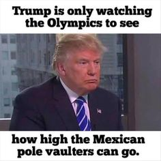 trump watching the olympics