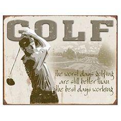 """Golf - Best Days GOLF Tin Sign 16""""Wx12.5""""H"""