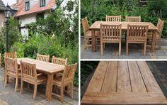 Teak garden tables in your garden - Autumn garden - Garden ideas - Garden furniture - Teak furniture