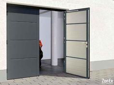 hormann-openslaande-garagedeur Room Divider, Garages, Furniture, Garage, Tall Cabinet Storage, Locker Storage, Home, Home Decor, Storage Cabinet