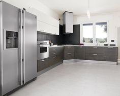 estilo de cocinas modernas con tope de madera - Buscar con Google