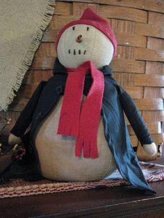 Primitive Chubby Snowman