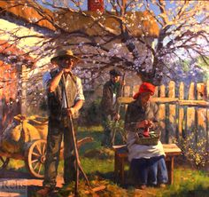 Gregory Frank Harris (b.1953) Gregory Frank Harris (b. 1953)  The Eventide of Spring Comes Gently  Oil on canvas