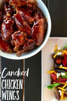 Candied chicken wings that are the best you've ever had! Plus, they're dairy-free, nut-free, and baked (not fried)!