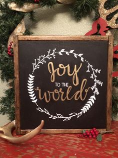 joy to the world sign christmas signs holiday decor joy sign christmas sign