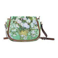 Roses Vincent Van Gogh Floral Fine Art Saddle Bag/Small (Model 1649) Full Customization