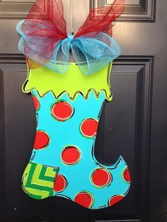 SALE+Christmas+Stocking+Door+Hanger+by+SouthernDoor+on+Etsy