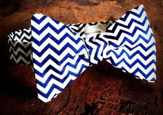 Bow Tie- Blue Chevron - from the 2012 iontiveros winter collection going on sale tomorrow!! Perfect gift!!