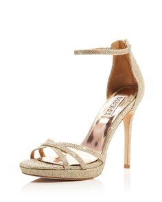 Badgley Mischka Signify Metallic High Heel Sandals