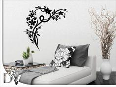 Virágos faldekoráció - dekormatrica kedvező áron lakásdekoráció webáruházunkban #virág #faltetoválás #falmatrica #szoba #dekoráció #fal #ötletek #otthon #lakásfelújítás