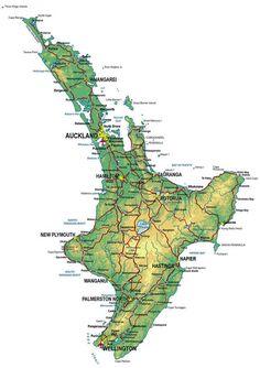 neuseeland karte nordinsel im Neuseeland Reiseführer http://www.abenteurer.net/3882-neuseeland-reisefuehrer/