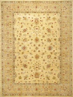 Peshawar 5th Avenue Beige Gold Wool   Rug