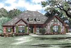 Elevation of Country   Craftsman   European   House Plan 82275  - a few modifications to the master bath, etc. and this one might be a keeper.
