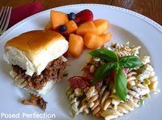 Posed Perfection: Shredded Flank Steak Sliders ~ Crockpot Recipe