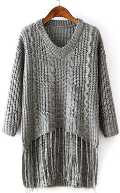 Don't get us wrong, this sweater is absolutely fabulous! It's cut and loose knitted print really take this sweater to the next level. Not mention to the chic tassel! It will not only be adorable on it will also keep you nice and warm!