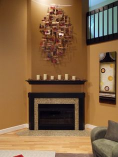 Two Tone Fireplace Makeover | Woods, Mantle and Kilz primer