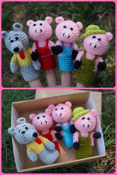 Three Little Pigs Finger Puppets Toddlers Birthday Gifts Kids Toys For