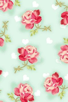 LOVE in bloom by Fresh DesignsRoses and Heartscotton by tisSEWcute, $8.50