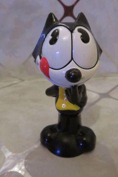 """Vintage Felix the Cat Productions 4"""" Toy Figure Adorable!"""