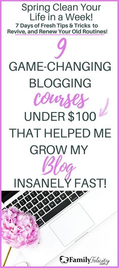Blogging courses and education is essential to having any real success in blogging. Taking endless hours to research free articles online and learning by trial and error will only take you so far. These 9 blogging courses are each unique and under $100 and will help take your blog to your next level vision. #Blogging #BloggingCourses Make Money Blogging, How To Make Money, Business Tips, Online Business, Fresher Tips, Work From Home Moms, Virtual Assistant, Blogging For Beginners, Social Media Tips
