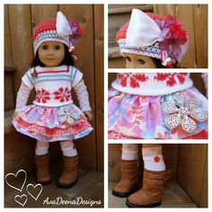 Complete flower outfit clothes for 18 inch doll american girl