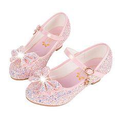 Girls' Synthetic Microfiber PU Flats Little / Big +) Comfort / Novelty / Flower Girl Shoes Sequin / Buckle White / Blue / Pink Fall / Winter / TPR (Thermoplastic Rubber) Cheap Girls Shoes, Girls Flats, Girls Sandals, Kids Girls Shoes, Flower Girl Shoes, Flower Girl Dresses, Manga Floral, Kids Shoes Online, Princess Shoes