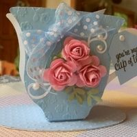 "Blue teacups with pink roses - paper - ""you're my cup of tea"" Page 1 · Sizzix Score Boards · Gallery · Heart Prints"