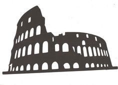 The Colosseum silhouette by hilemanhouse on Etsy, $6.95