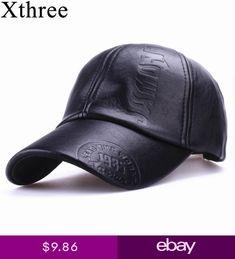 24cb334d30960 Gorra de cuero fashion high quality fall winter men leather hat Cap casual  moto