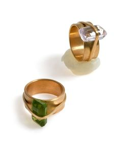 Silke Spitzer. Ring: Bundle, 2012. Gold, precious stones.