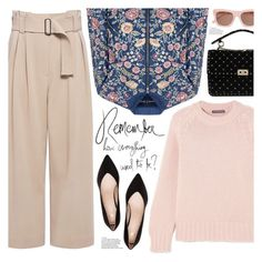 """""""remember how everything used to be?"""" by valentino-lover ❤ liked on Polyvore featuring A.L.C., Valentino, Alexander McQueen, Needle & Thread and Ganni"""