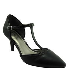 Look at this #zulilyfind! Black Debut T-Strap Pump #zulilyfinds