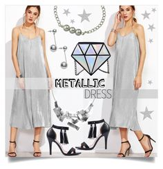 """#metallicdress"" by mahafromkailash ❤ liked on Polyvore featuring metallicdress"