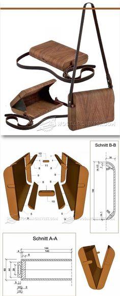 Making Wooden Handbag - Woodworking Plans and Projects | WoodArchivist.com | Woodworking Plans | Pinterest