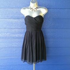 J Crew dress Dark navy blue strapless dress - color looks almost black. J. Crew Dresses