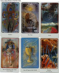 An advanced tarot deck, the Heindl deck  uses many Kaballistic images and symbols.