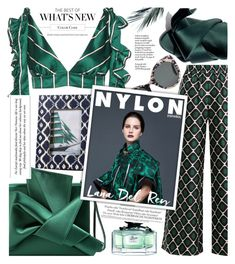 """""""All green,emerald seen!"""" by jelena-bozovic-1 ❤ liked on Polyvore featuring La DoubleJ, Gucci, N°21 and Zodax"""