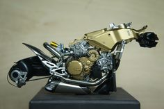 Ducati Panigale frame and engine.