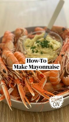 Seafood Appetizers, Seafood Salad, Appetizer Recipes, Homemade Sauce, Homemade Mayonnaise, Homemade Food, Food Videos, Recipe Videos, Boiled Food