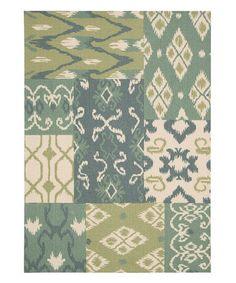 Love this Blue & Green Vista Rug by Nourison on #zulily! #zulilyfinds