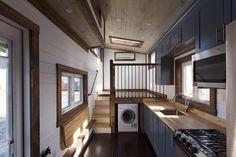 Kitchen & Living Room - Lookout v2 by Tiny House Chattanooga