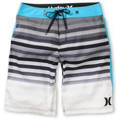 Hurley Crikey Black & Blue Stripe 21 Board Shorts at Zumiez : PDP ($45) ❤ liked on Polyvore