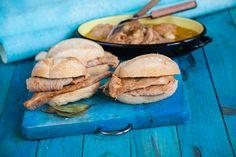Sandwiches For Lunch, Sandwich Recipes, Pork Recipes, Cooking Recipes, Pork Meals, Portuguese Recipes, Portuguese Food, Picnic Foods, Pork Dishes