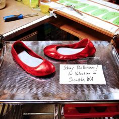 Design-Your-Own Shoe of the Week: Shiny Red Ballerine Flats! #shoes #ballet #flats