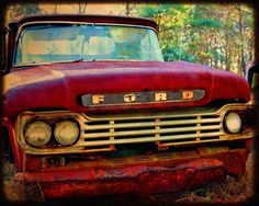 Old Red Ford Truck