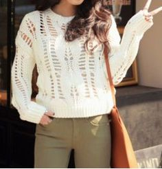 Casual Solid Color Long Sleeves Hollow Out Sweater For Women. Nayeem · Ladies  Sweater Design · Isabel Marant is the latest ... 1cf1f6ac5