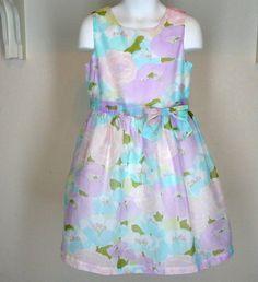 Gymboree Tea & Cake Party Dress Sz 5 Girls Pastel Floral Easter Spring #Gymboree #DressyParty