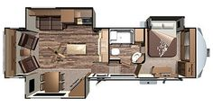Travel Trailer Floor Plans, Rv Floor Plans, Trailer Plans, Trailer Deck, 5th Wheel Camper, Fifth Wheel Campers, Open Range Rv, Camper Flooring, Pulte Homes